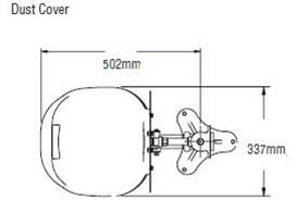Bradley HALO oogdouche met RVS opvangschaal, wandmontage-3
