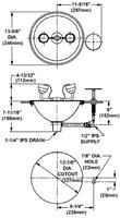 Bradley inbouw oogdouche-2