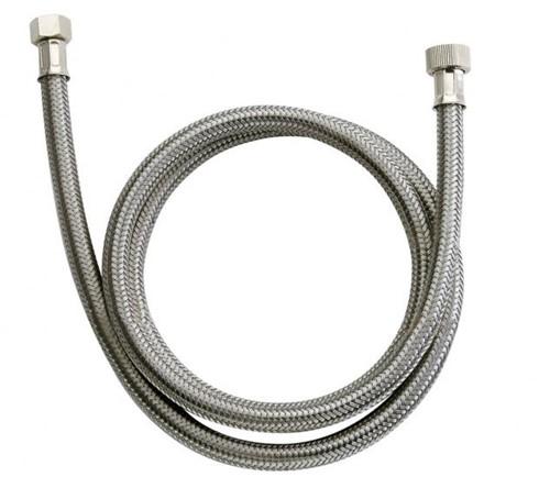 TOF flexibele slang met RVS mantel, voor knijpdouches