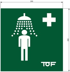 TOF internationale veiligheidssticker