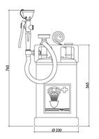 TOF draagbare compressie oog-/gelaatsdouche-2