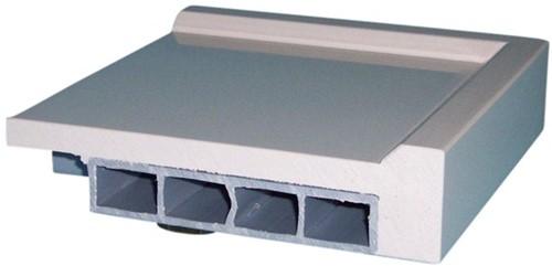 PP werkblad met waterkering, tot 750mm diep, 15/22mm-2