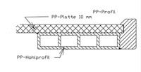 PP werkblad met waterkering, tot 900mm diep, 30/37mm-3