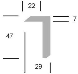 PP randprofiel, lengte 5 meter