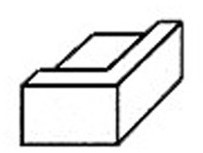 Keramisch hoekprofiel, wit, 72x72x42mm