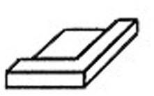Keramisch hoekprofiel, wit, 72x72x15mm