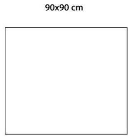 Keraion keramische tegel, 892 x 892 x 8mm, wit