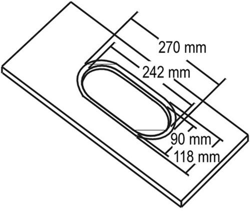 KeraLab verdiepte ovale trechteruitsparing, geglazuurd (tbv V499B)