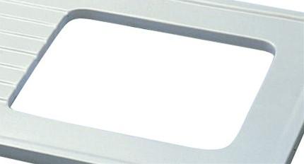 KeraLab geglazuurde spoelbakuitsparing tot 680 x 380mm