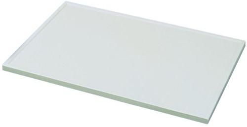 KeraLab ongesneden werkblad, voorzijde standaard waterkering, lichtgrijs (ALU)