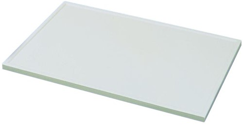 KeraLab ongesneden werkblad, voorzijde standaard waterkering, wit (Polar)