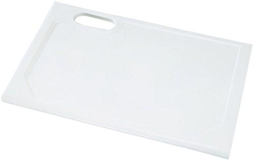 KeraLab ongesneden werkblad, voorzijde ronde waterkering, lichtgrijs (ALU)