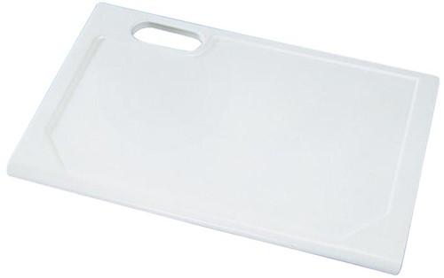 KeraLab ongesneden werkblad,voorzijde standaard waterkering, wit (Polar)