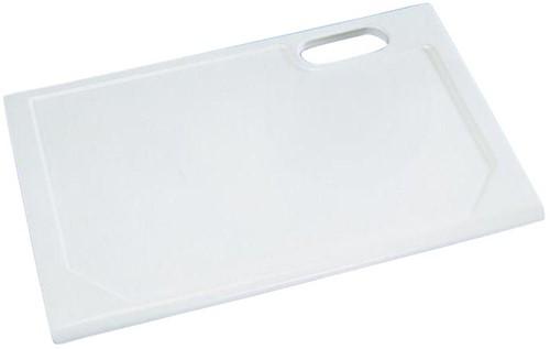 KeraLab ongesneden werkblad, voorzijde schuine waterkering, wit (Polar)
