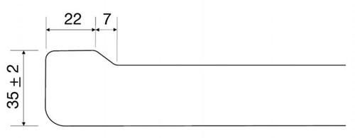 KeraLab op maat gesneden werkblad, wit (Polar)-2