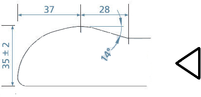 KeraLab op maat gesneden werkblad, voorzijde ronde waterkering, wit (Polar)