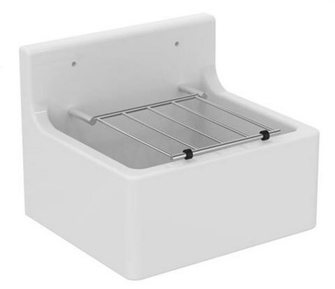 Ceramic cleaners sink 455x380x205mm, white