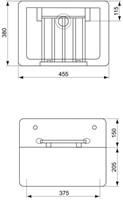 Keramische uitstortgootsteen 455x380x205mm, wit-2