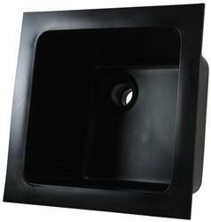 Labstream PE spoelbak 250x250x200mm, zwart
