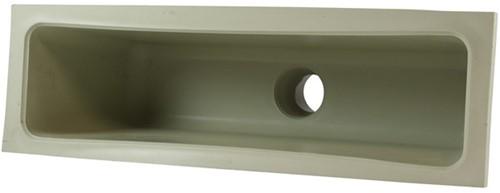 Labstream PP trechter 400x100x150mm, RAL 7032