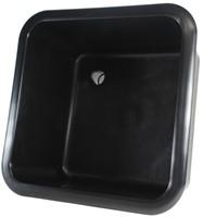 """Labstream spoelbak 400x400x250mm """"Kappa Plus"""", zwart"""