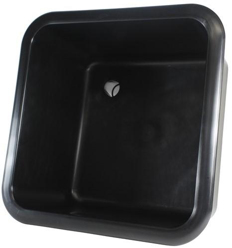 """Labstream sink 320x320x200mm """"Kappa Plus"""", black"""