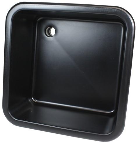 """Labstream spoelbak 450x450x250mm """"Kappa"""", zwart"""