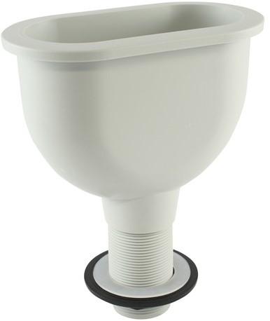 Labstream PP dripcup 150x70mm, RAL7035