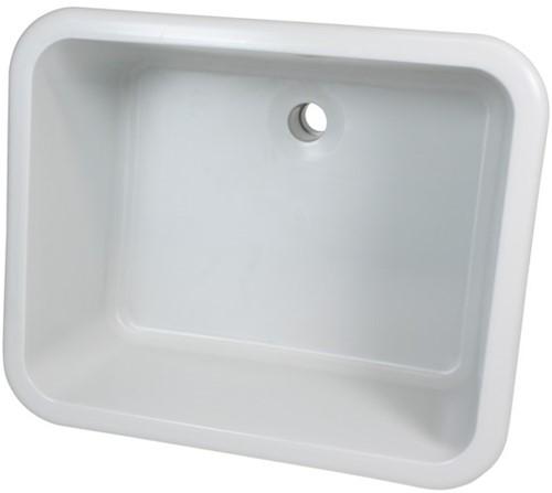 """Labstream sink 500x400x250mm """"Kappa Plus"""",  RAL 7035"""