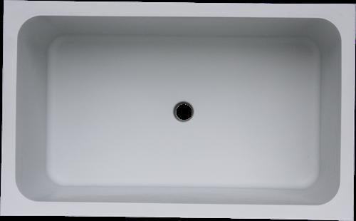 Labstream PP spoelbak 700x400x300mm, RAL 7035-2