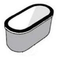 KeraLab ovale trechter 250x100x85mm