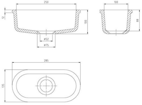 KeraLab ovale trechter 250x100x85mm-2