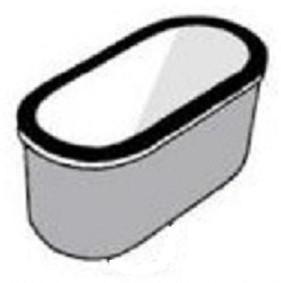 KeraLab ovale trechter 395x70x95mm