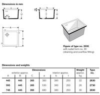 KeraLab spoelbak 380x380x250mm met overloop-2
