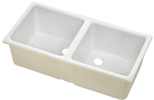 KeraLab double sink 2x395x380x250mm