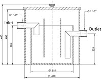Labstream PP grease separator ø400mm-2