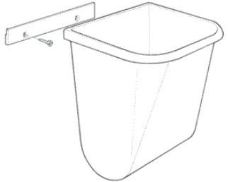 PP afvalbak met bevestigingsstrip-3