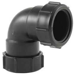 Labstream PP bocht 40mm, 90°